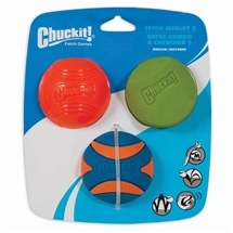 Chuckit! Fetch Medley Balls Assortment - Set of 3